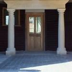 Portico and Urns